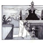 schets kerkdak Portugal, atelier van vegchel