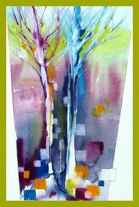 afbeelding Creatief via de kloof uit de aquarel modder