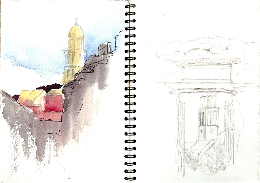 aquarel schetsboek