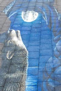 Afbeeling uit de straat tentoonstelling Arnhem, geschildert door Kerim Musanovic